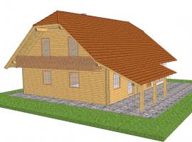 3D izris stanovanjska hiša Selška dolina