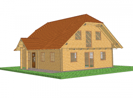 3d izris hiša